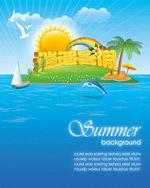 快乐暑假单张广告