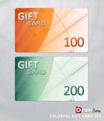 多彩的礼品卡