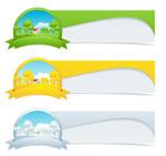 四季装饰旗帜