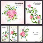 玫瑰花图案邀请函