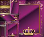 紫色邀请卡片