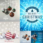 圣诞挂球与雪花