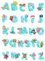 卡通字母设计