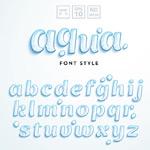 创意水泡字母