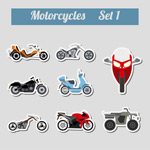 时尚摩托车贴纸