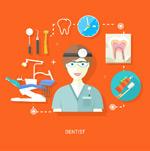 牙医与治疗工具