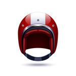 红色头盔矢量