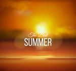 夏日黄昏海岸