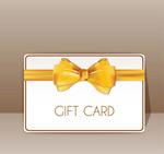 金色蝴蝶结礼品卡