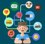 网络社交图谱插画