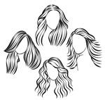 手绘女子发式