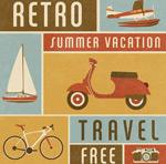 复古夏季度假海报