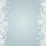 冬天雪花花纹背景