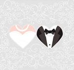 新郎新娘花纹背景