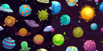 卡通宇宙星球背景