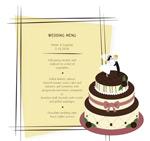 婚礼蛋糕菜单