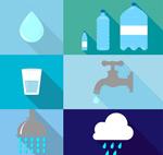 水元素图标矢量