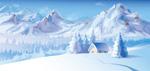 美丽的雪景矢量