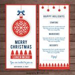 圣诞菜单模板