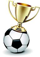 足球上的奖杯