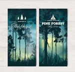 日落森林的横幅