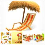 旅游度假沙滩图标