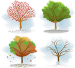 简约树木矢量