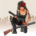 拿着枪的美女