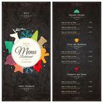 高档餐厅的菜单