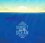 大海上的日落