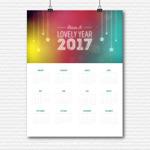 彩色2017日历