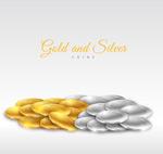金币和银币堆