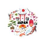 水彩绘日本元素