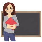 女教师矢量图