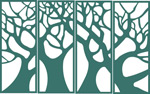 绿色环保窗格