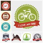 自行车标签矢量