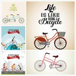 自行车人物矢量
