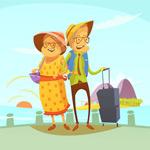 旅行的老年夫妇