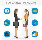 握手的商务女子