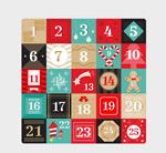 彩色圣诞月日历