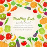 果蔬健康饮食背景