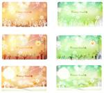 冬季主题幻彩卡片