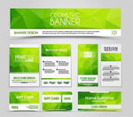 绿色传单和名片