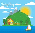 春季海边风景