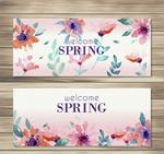 春季花朵banner