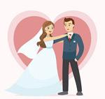幸福的婚礼新人