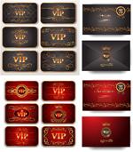 烫金花纹VIP卡
