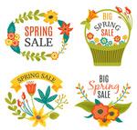 春季花卉促销标签