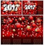 新年吊球矢量