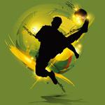 足球元素剪影